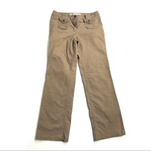 Anthropologie 6 Sitwell pants cargo tan flare leg